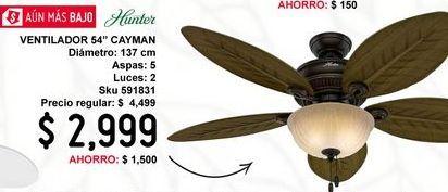 """Oferta de Vent 54"""" grand cayman 5 aspas onix por $2999"""