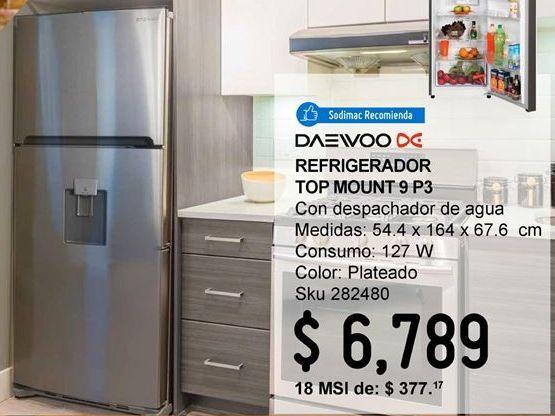 Oferta de Refrigerador Top Mount 9 pies con despachador por $6789