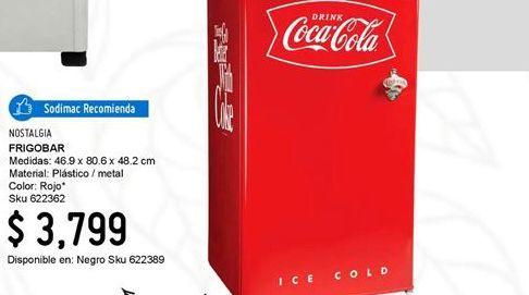 Oferta de Frigobar Coca Cola por $3799