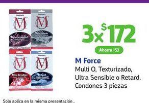 Oferta de Condones M Force por $172