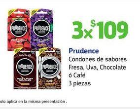 Oferta de 3x Condones Prudence por $109