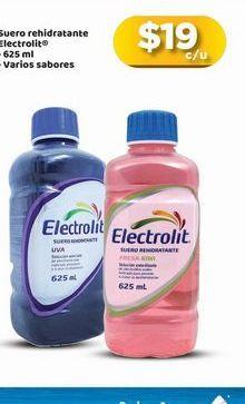 Oferta de Suero fisiológico Electrolit por $19