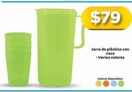 Oferta de Jarra de plástico con vaso por $79