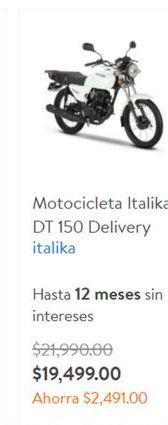 Oferta de Motos Italika por $19499