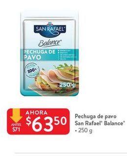Oferta de Pechuga de pavo San Rafael por $63.5