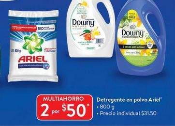 Oferta de 2x detergente en polvo Ariel por $50