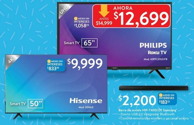 Oferta de Smart tv led 50'' Hisense por
