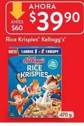 Oferta de Cereales Kellogg's por $39.9