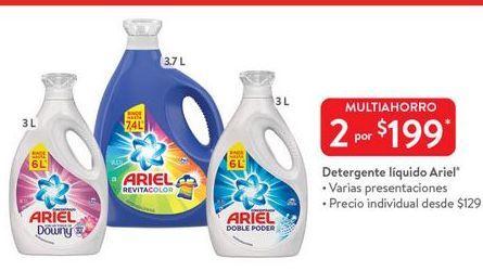 Oferta de 2x Detergente líquido Ariel por $199