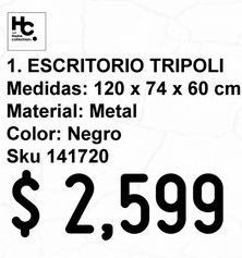 Oferta de Escritorio Tripoli Negro por $2599