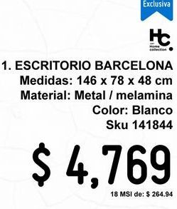 Oferta de Escritorio Barcelona Blanco por $4769