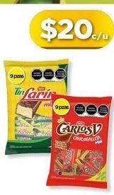 Oferta de Chocolate Carlos V por $20