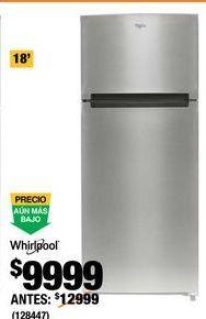 Oferta de Refrigeradores Whirlpool por