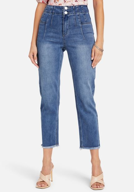 Oferta de High Rise Front Pleating Straight Leg Jeans por $119
