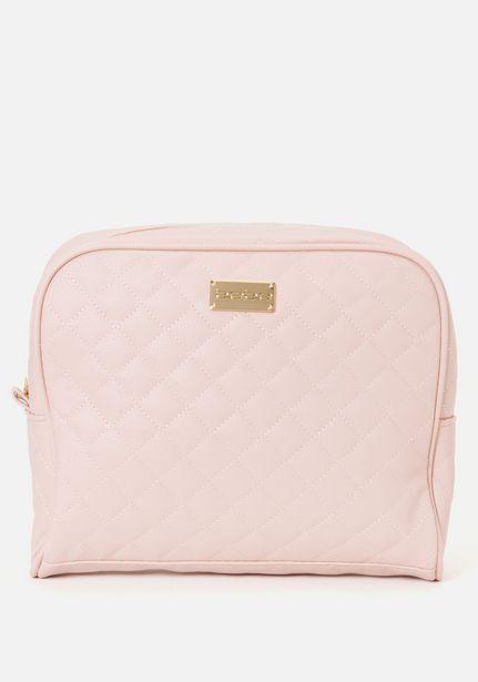 Oferta de Pink Quilted Cosmetic Bag por $24.99