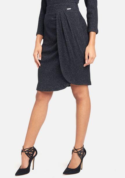Oferta de High Waist Heathered Knit Wrap Skirt por $19.99