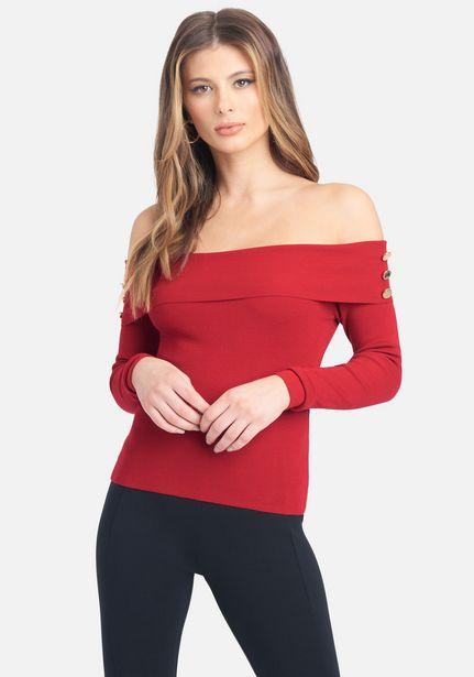 Oferta de Off The Shoulder Sweater Top por $29.99
