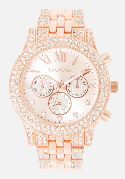 Oferta de Crystal Bezel Roman Numeral Watch por $59.99