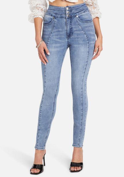 Oferta de High Waist Front Seam Detail Skinny Jeans por $119