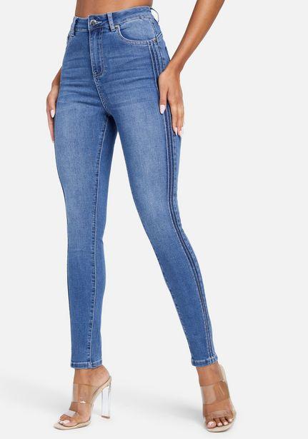 Oferta de High Waist Skinny Side Tucking Ankle Jean por $119