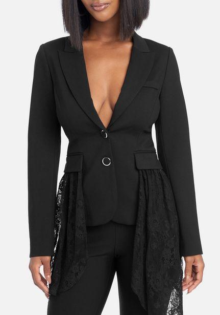 Oferta de Lace Drape Detail Blazer por $44.99