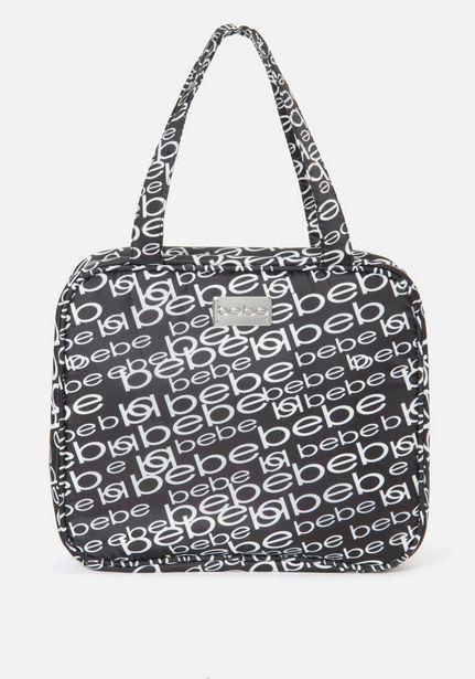 Oferta de Black and Silver Cosmetic Bag por $24.99
