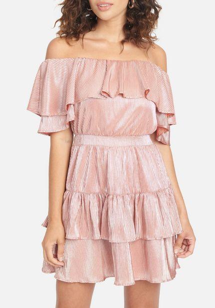 Oferta de Off Shoulder Tiered Dress por $44.99