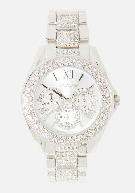 Oferta de Crystal Bezel Link Roman Numeral Watch por $59.99