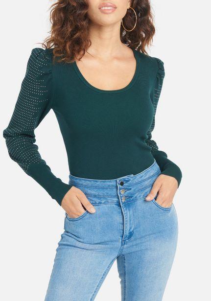 Oferta de Scoop Neck Stud Sweater Top por $26.99