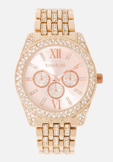 Oferta de Roman Numeral Crystal Bezelwatch por $59.99
