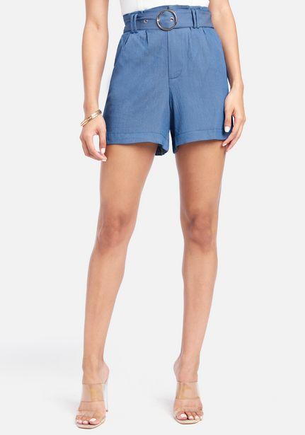 Oferta de High Waist Tencel Shorts With Belt Detail por $89