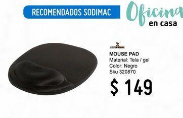 Oferta de MOUSE PAD ERGONOMICO GEL por $149
