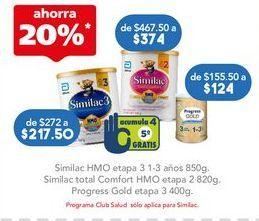 Oferta de SIMILAC HMO ET3 1-3 AÑOS LAT C/850GR por