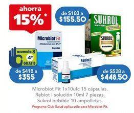 Oferta de MICROBIOT FIT CAP 1X10 10UFC C/15 por