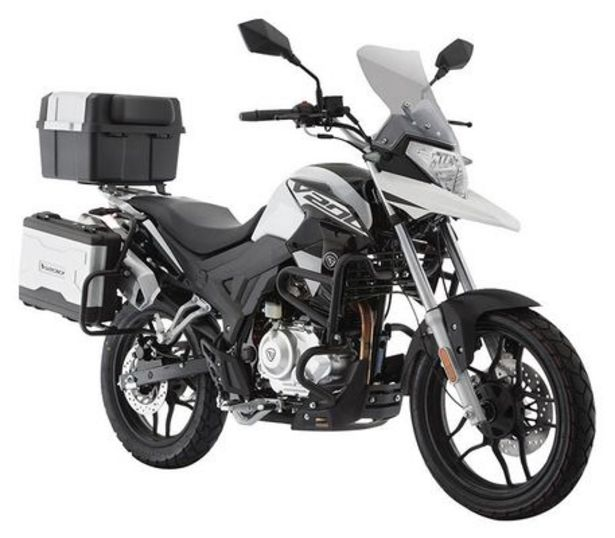 Oferta de Motocicleta De Ciudad Italika V200 Blanco/Negro C/Casco por $47999