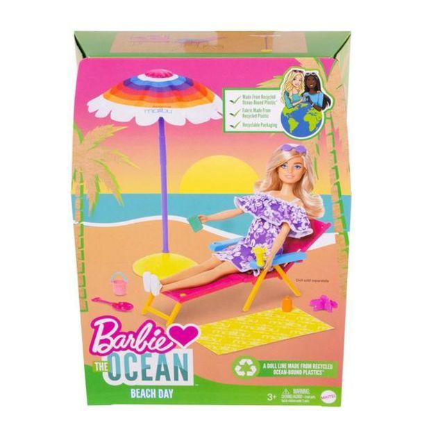 Oferta de BARBIE MALIBU SET DE PLAYA BARBIE OCEAN - SOMBRILLA GYG16 por $319