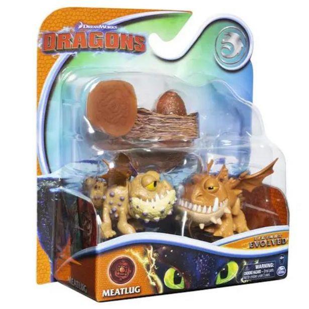 Oferta de MINI DRAGONES EN EVOLUCIÓN - MEATLUG 6054690 por $269