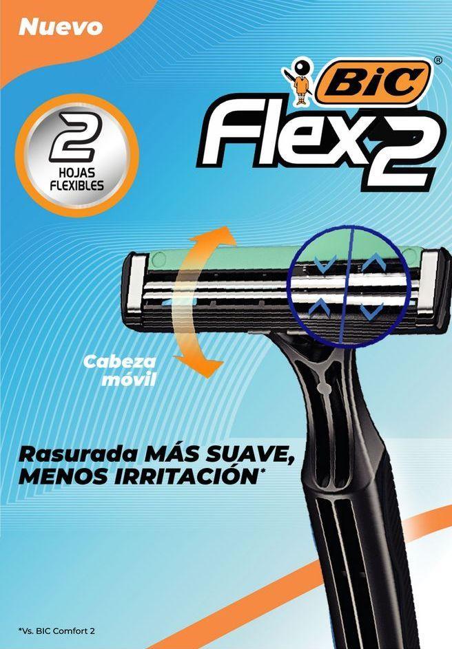 Oferta de Rastrillos Bic Flex 3 Ext Sens 2 pz 3 Ho por