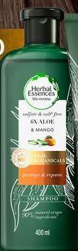 Oferta de Shampoo Herbal Essences Bio:Renew 6x Aloe y Mango Protege y Repara 400ml por