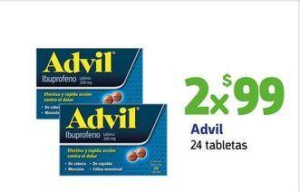 Oferta de Advil / 24 tabletas x 2 por $99
