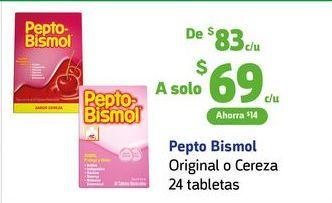 Oferta de Pepto Bismol / 24 tabletas por $69