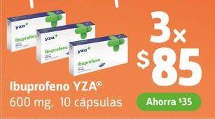 Oferta de Ibuprofeno YZA x 3 por $85