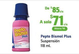 Oferta de Pepto Bismol / Suspensión 118 ml por $71