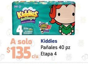 Oferta de Pañales Kiddies etapa 4 por $135