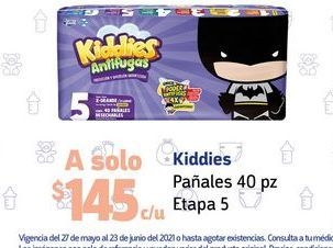 Oferta de Pañales Kiddies etapa 5 por $145