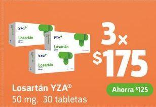Oferta de Losartán YZA x 3 por $175