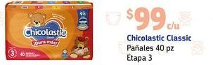 Oferta de Pañales Chicolastic etapa 3 por $99