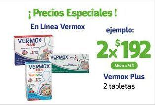 Oferta de Vermox Plus / 2 tabletas x 2 por $192