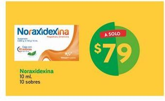 Oferta de Noraxidexina / 10 sobres por $79