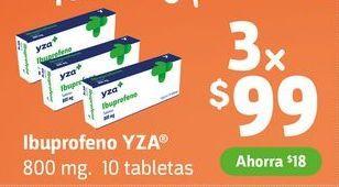 Oferta de Ibuprofeno YZA x 3 por $99